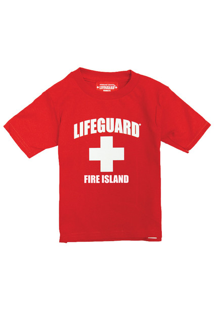 Red Traditional Kid's T-Shirt | Beach Lifeguard Apparel Online Store
