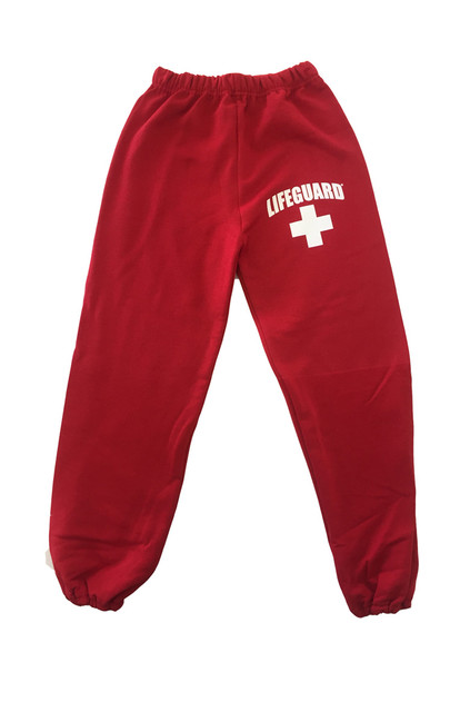 Red Youth Sweatpants | Beach Lifeguard Apparel Online Store