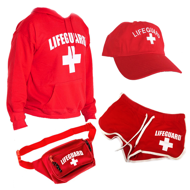 Women's Lifeguard Halloween Costume bundle
