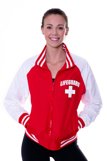 WOMEN'S LIFEGUARD VARSITY WINDBREAKER JACKET