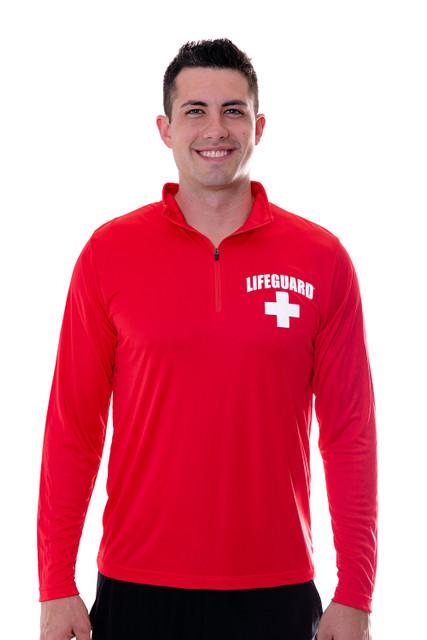 Men's Lifeguard Quarter Zip Active Shirt