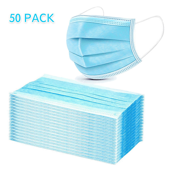 3-Layer Basic Face Mask 50-Pack