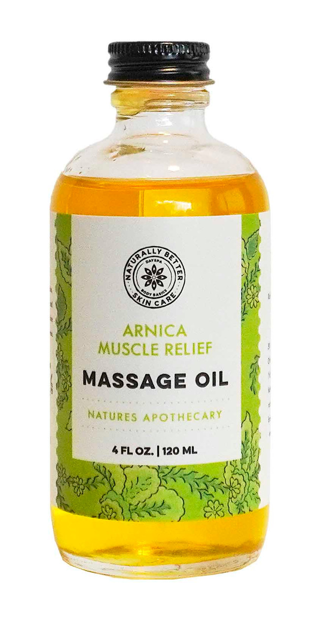 Organic Arnica Muscle Massage Oil = Natures Apothecary for Pain