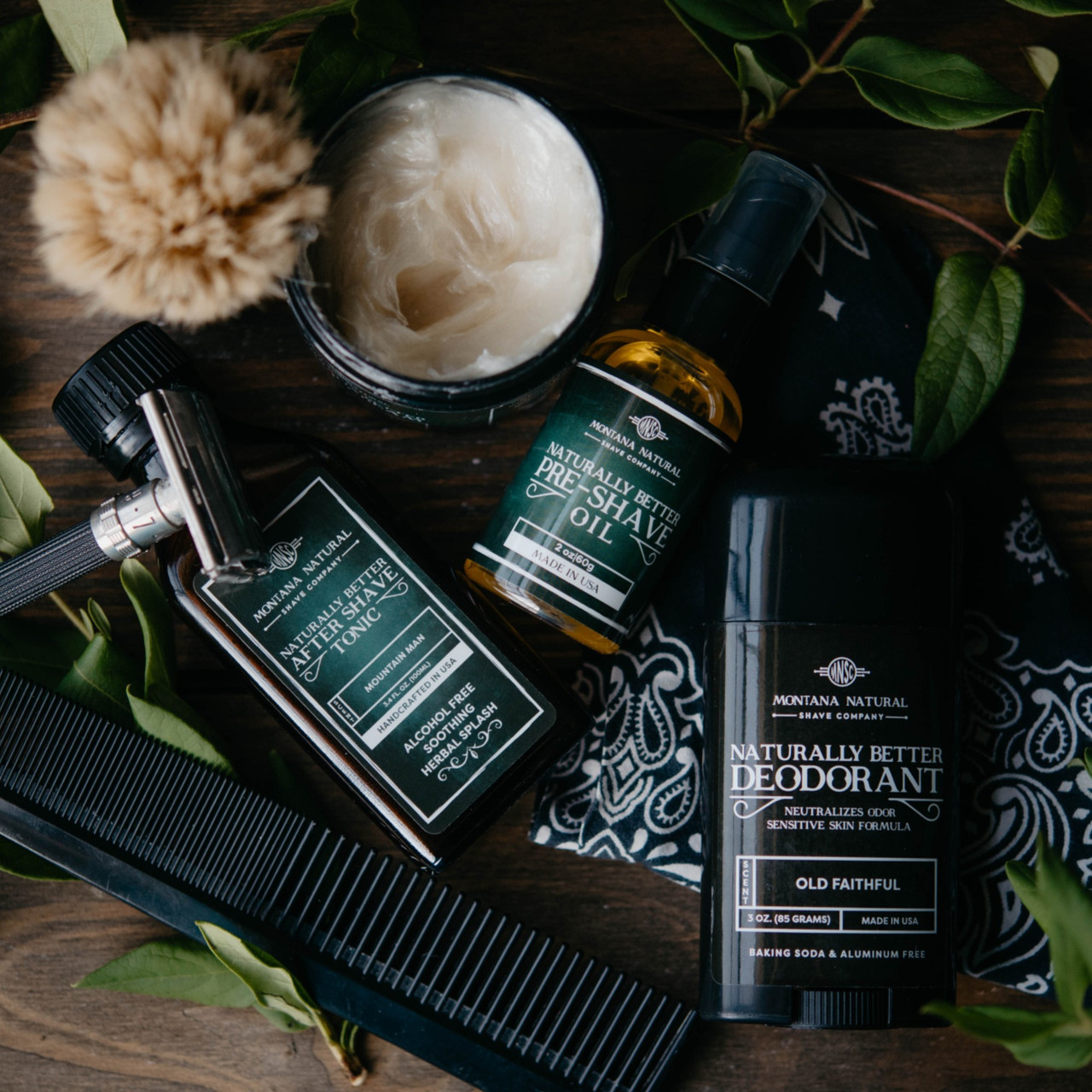 Hydrating Toning Mist - Sandalwood & Rose Water Hydrosol, Montana Natural Shave Company