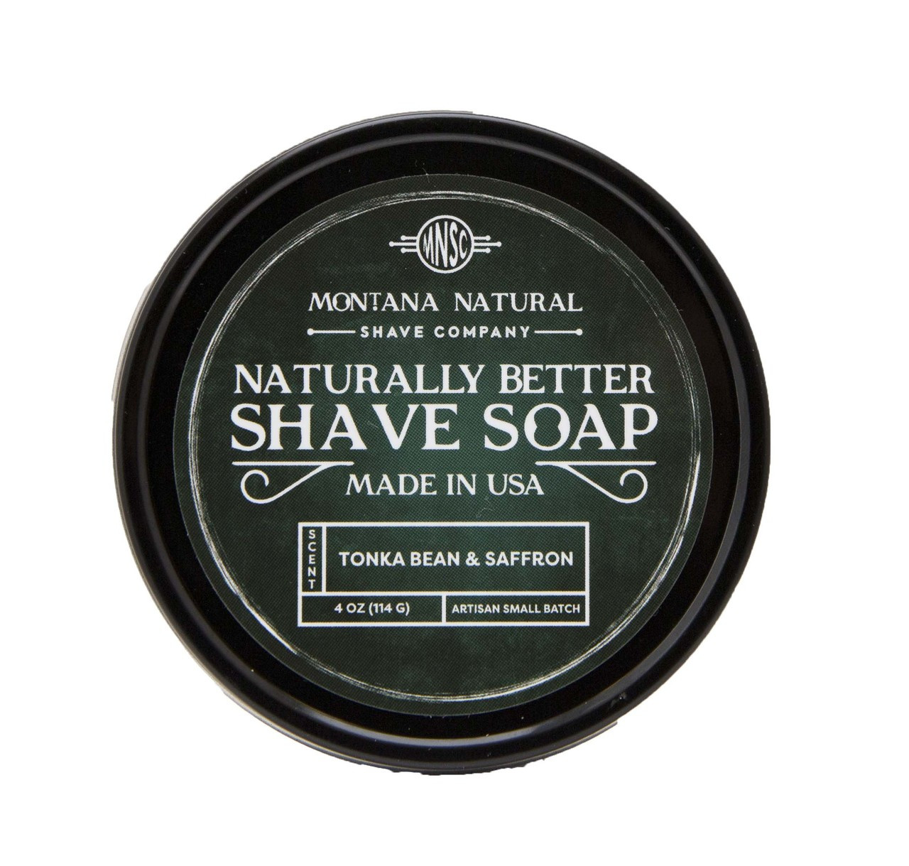 Tonka Bean & Saffron Artisian Small Batch Shave Soap for a Naturally Better Shave Experience