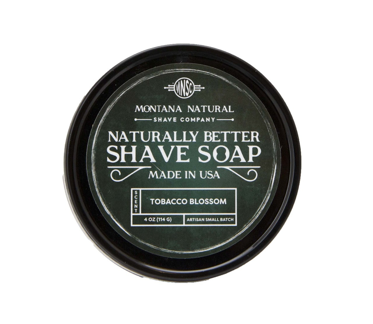 Tobacco Blossom Artisian Small Batch Shave Soap for a Naturally Better Shave Experience