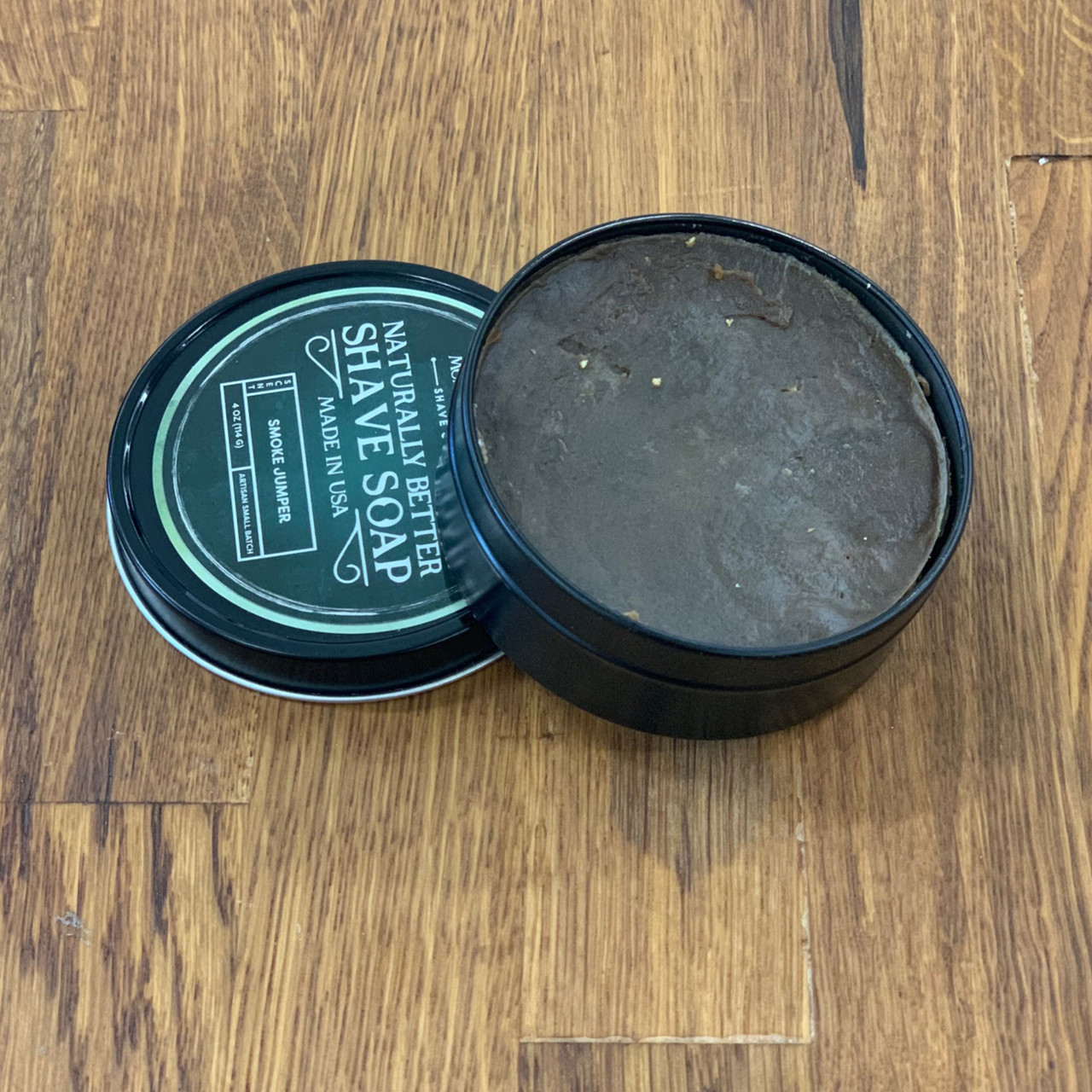 Smoke Jumper (Pine Tar) Artisan Small Batch Shave Soap for a Naturally Better Shave Experience