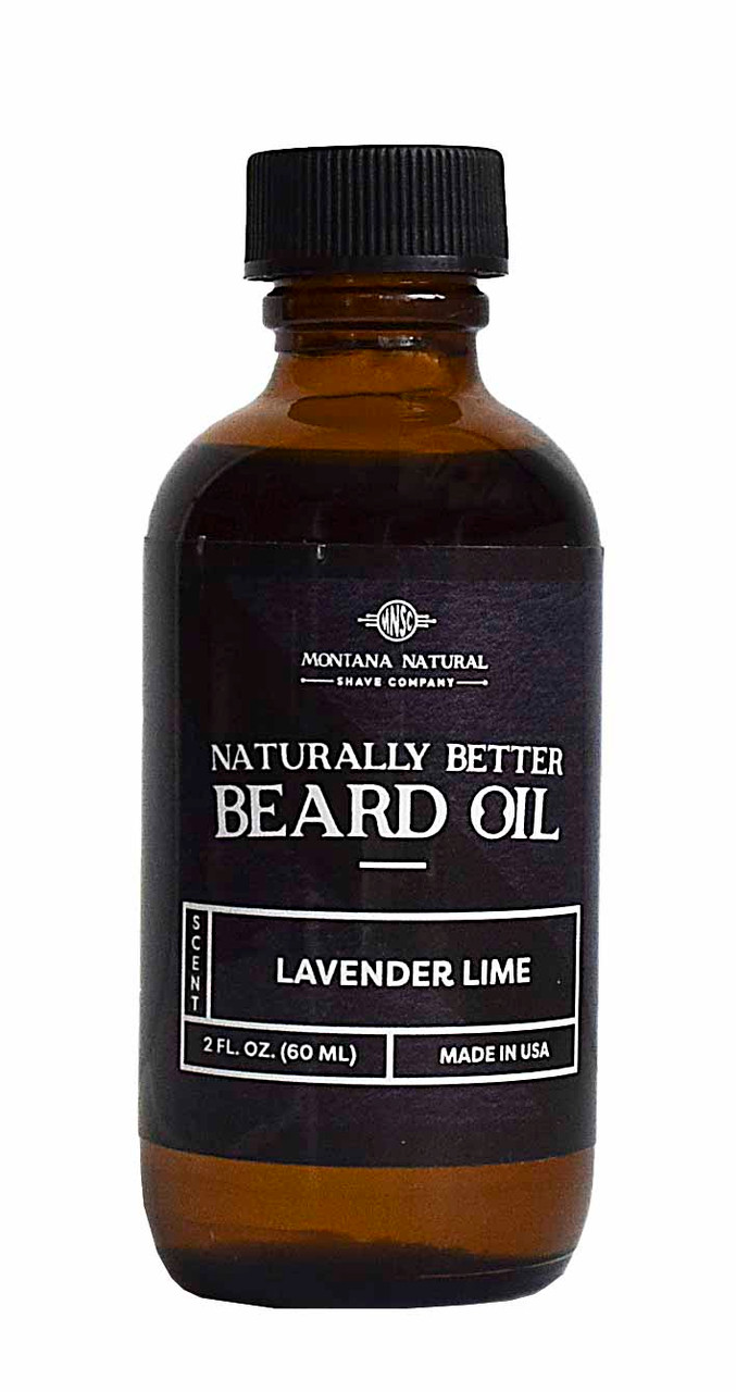 Lavender Lime Beard Oil & Leave in Moisturizer - Montana Natural Shave Company