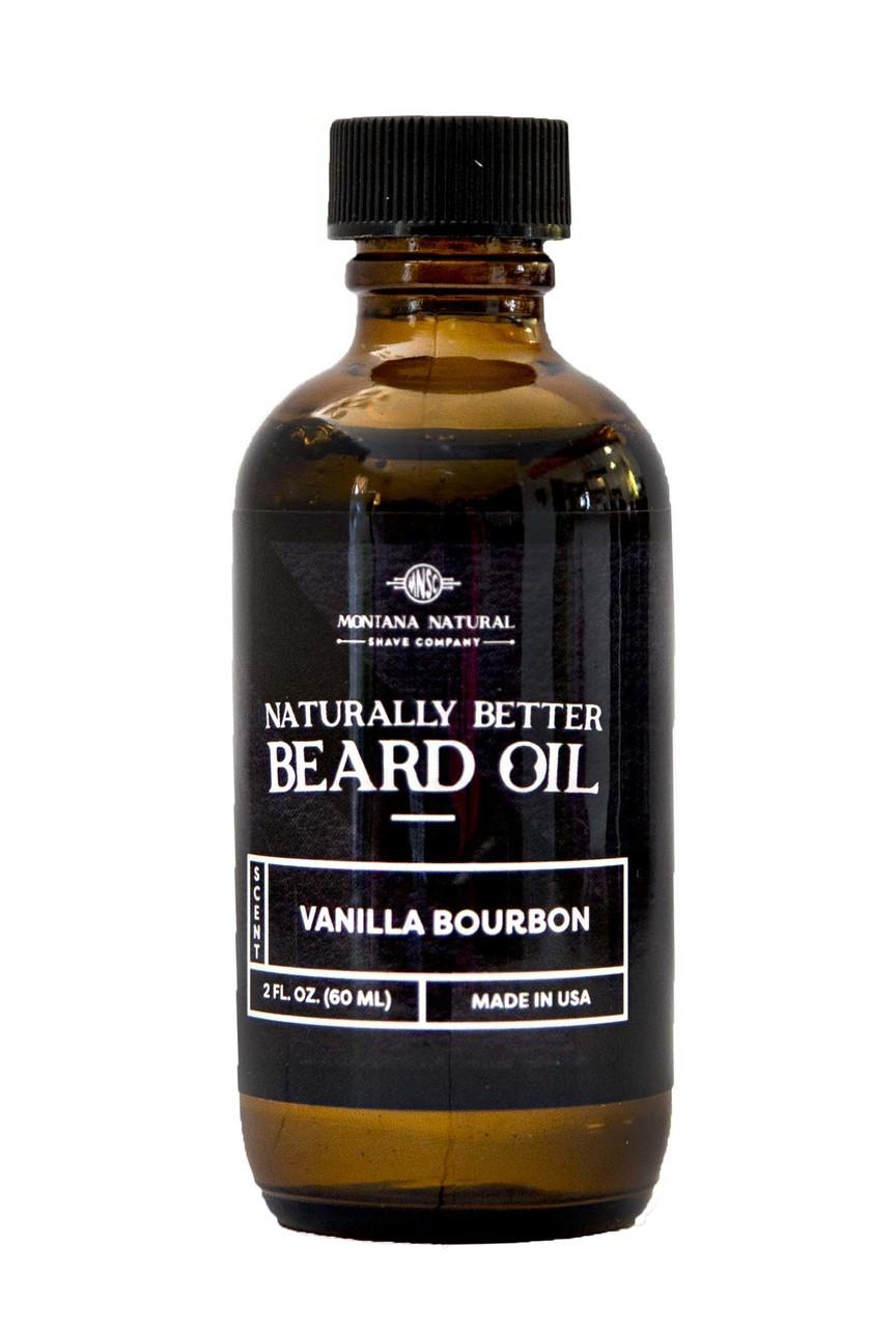 Naturally Better Vanilla Bourbon Beard Oil & Conditioner  Moutana Natural Shave Company