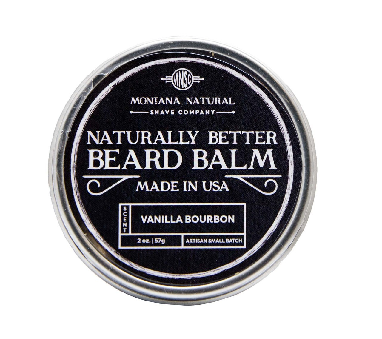 Small Batch Vanilla Bourbon Beard Balm Naturally Better - Montana Natural Shave Company