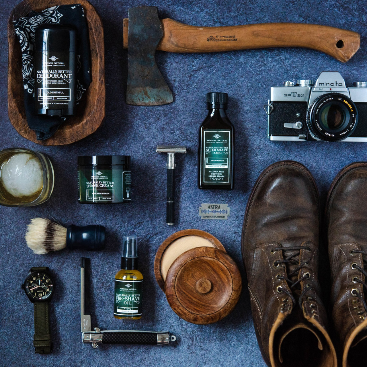 Unscented Old School Aftershave Tonic. Naturally Better  Alcohol Free Botanical Splash. Montana Natural Shave Company