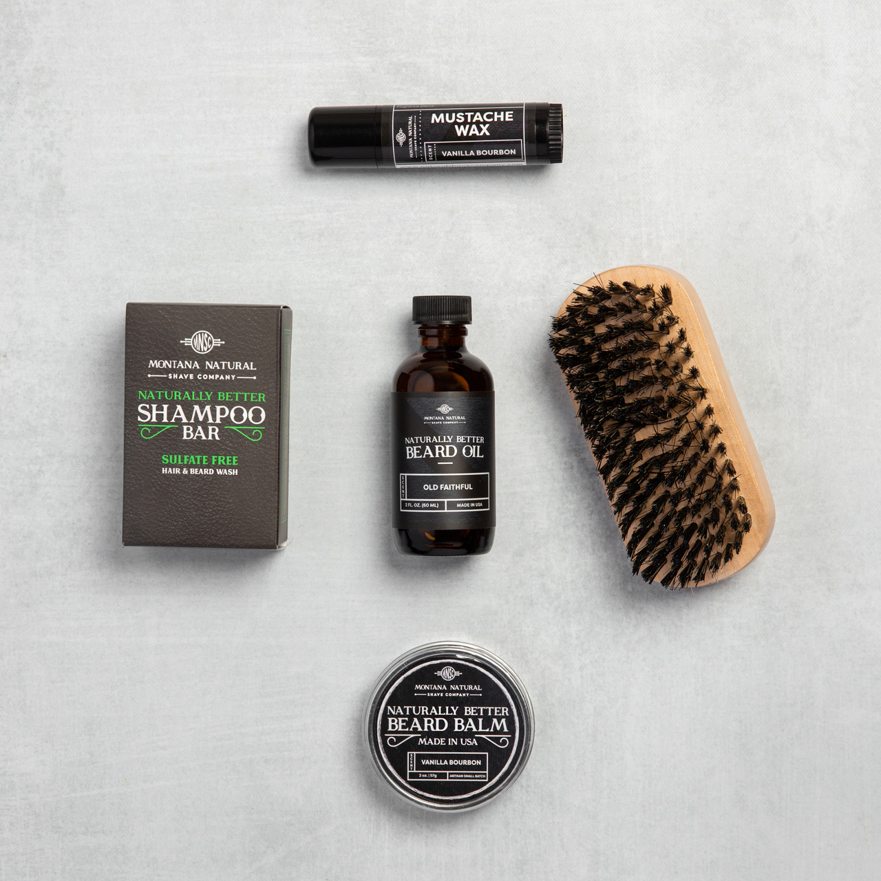 Petroleum-free, 100% Natural, Made in USA - Our Beard Gift Set is the perfect give for the unshaven.