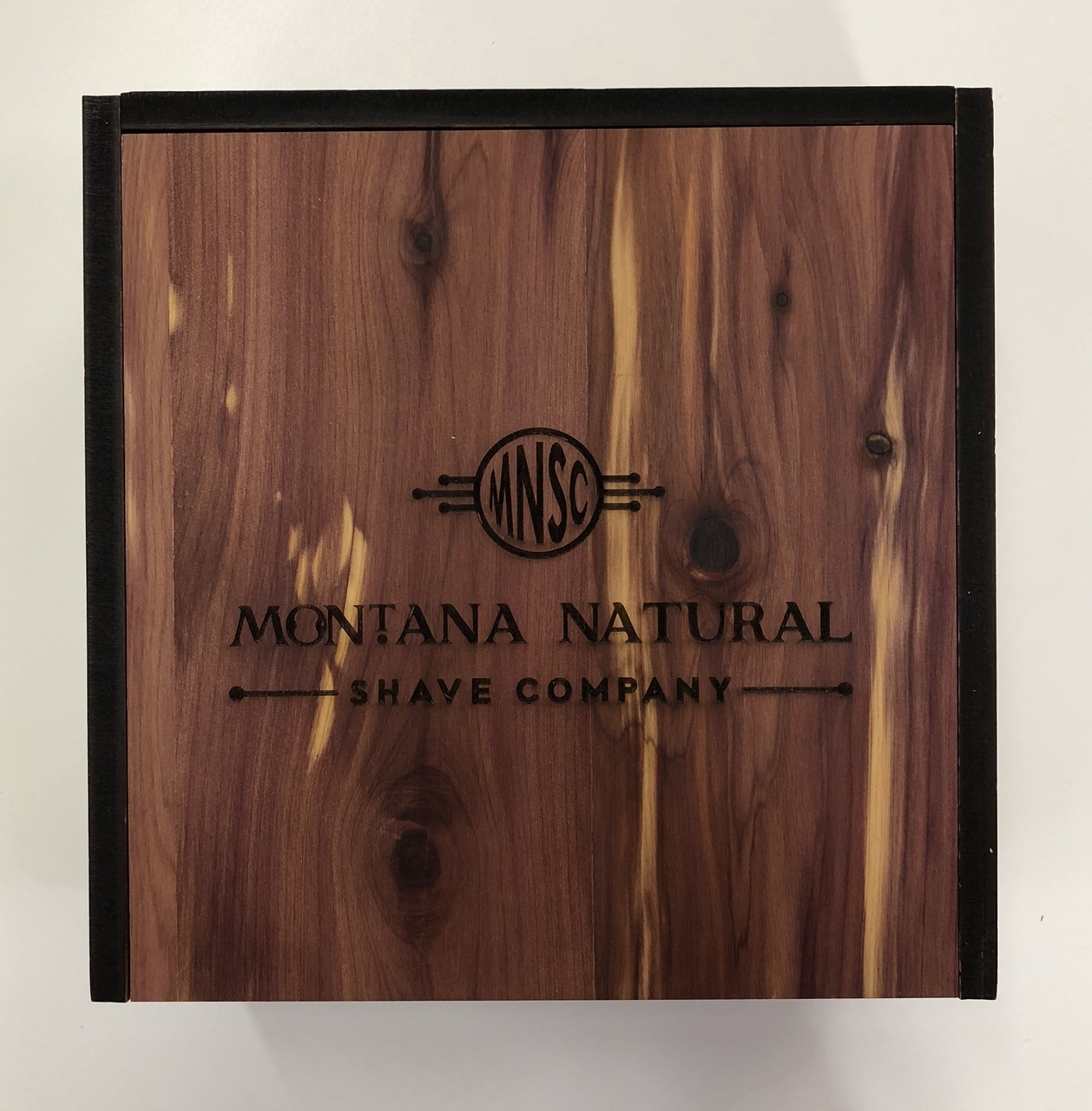 Made In USA Cedar Slide Top  Gift Box - Vintage Wet Shave Products And Aromatherapy Candle