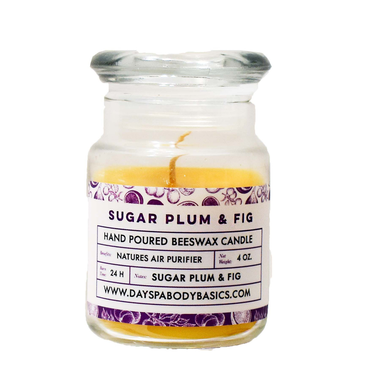 Sugar Plum and Fig All Natural Beeswax Candle