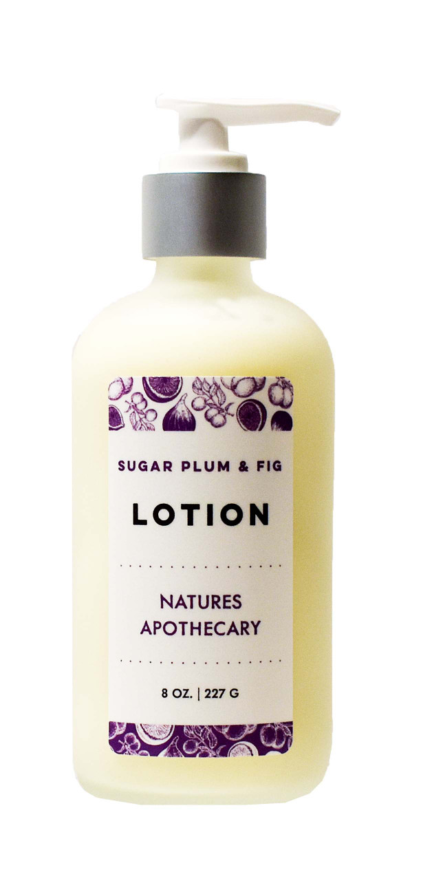 Sugar Plum & Fig Lotion For Dry Skin | Silky, Nourished, & Hydrated Skin | Organic Safflower Hand, Face & Body Lotion| Sensitive Skin Formula | Handmade in USA | Simple Ingredients, Naturally Better Results