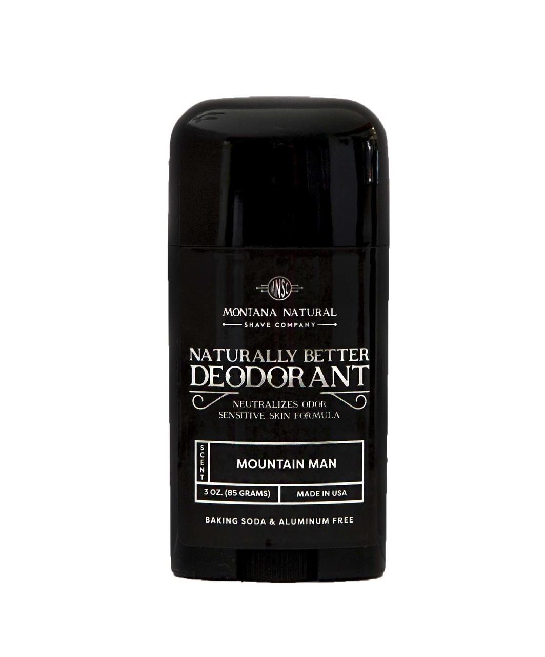 All Natural Mountain Man Stick | Sensitive Skin Formula | Baking Soda Free | Aluminum Free