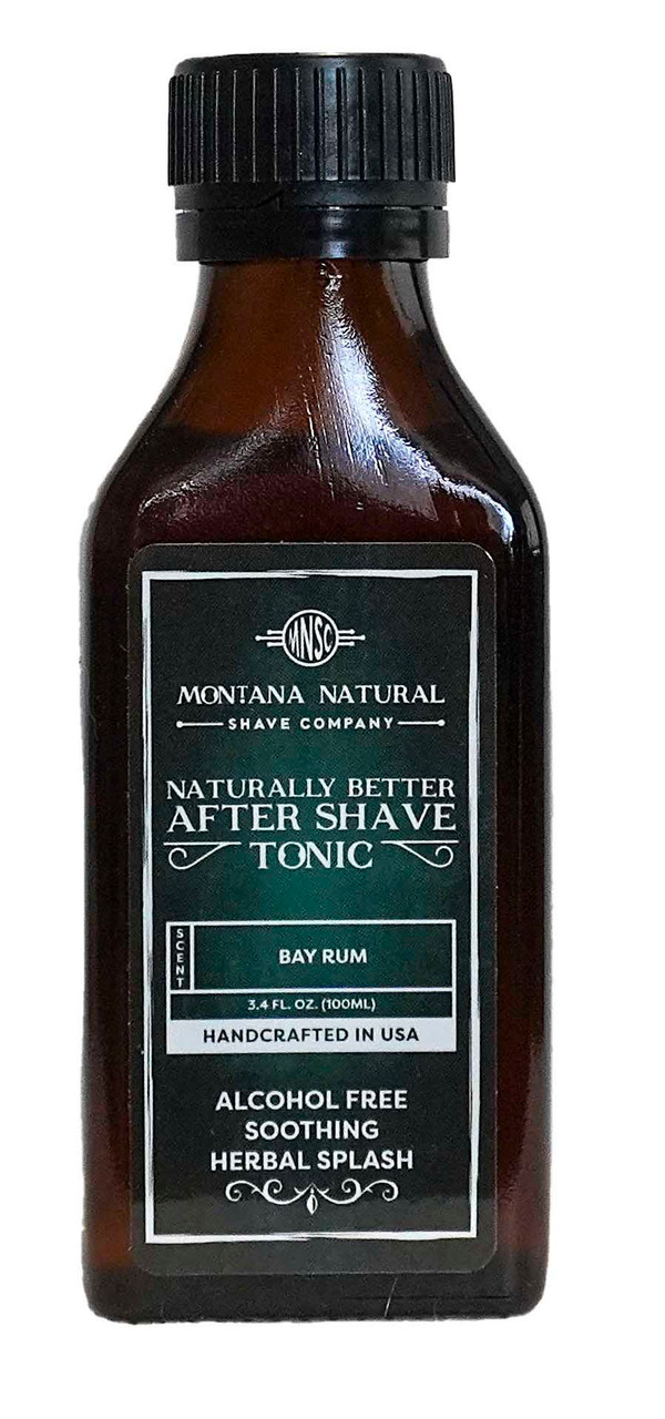 Bay Rum Old School Aftershave Tonic. Naturally Better  Alcohol Free Botanical Splash. Montana Natural Shave Company