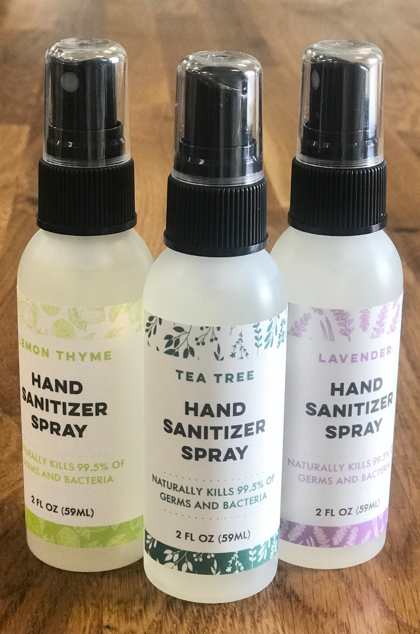 Lavender All Natural Hand Sanitizer | Kills 99% of Germs & Bacteria DAYSPA Body Basics