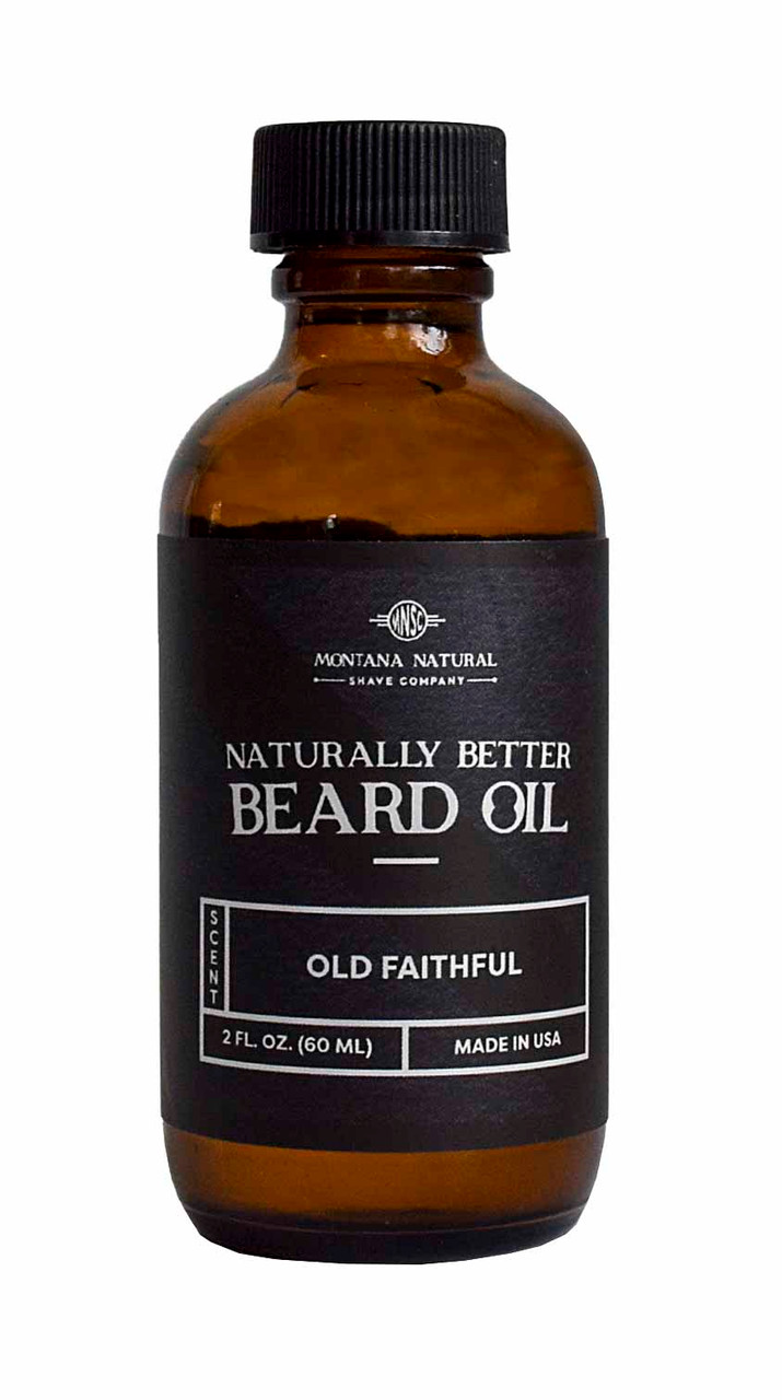 Naturally Better Old Faithful Beard Oil & Conditioner  Moutana Natural Shave Company