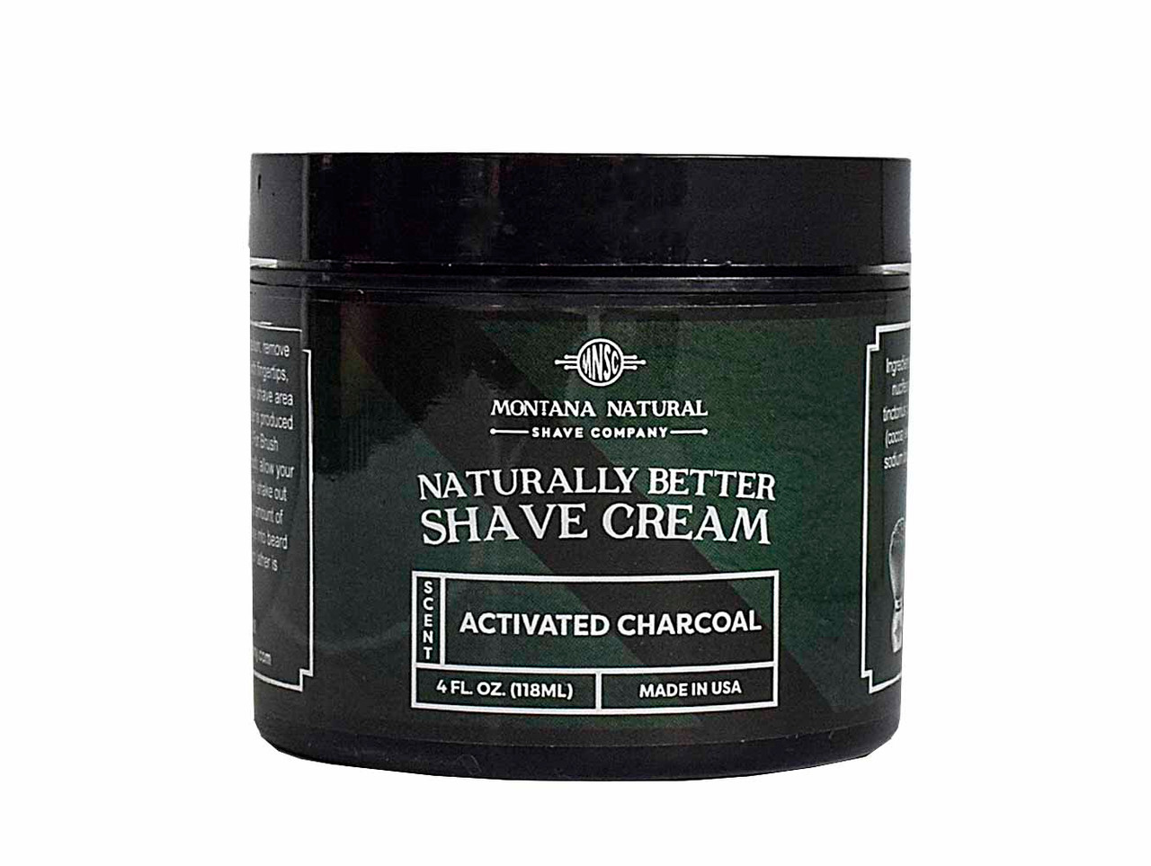 Activated Charcoal Shave Cream for a Naturally Better Shave Experience!