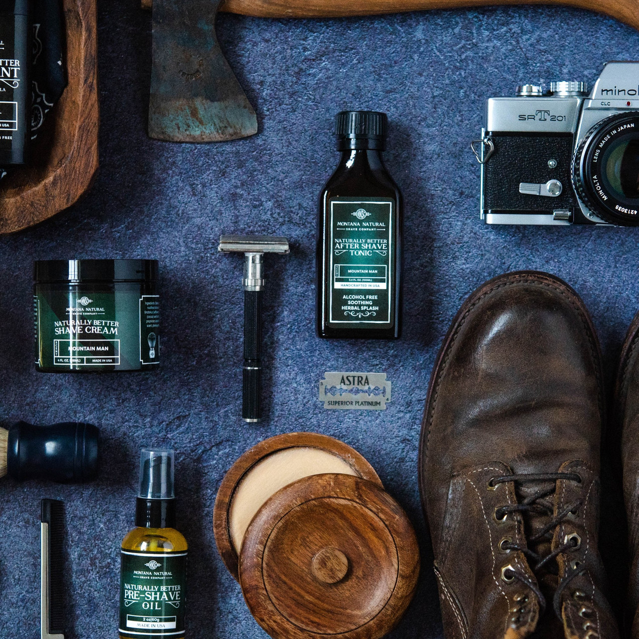 Black Timber Pump Shave Cream - Montana Natural Shave Company
