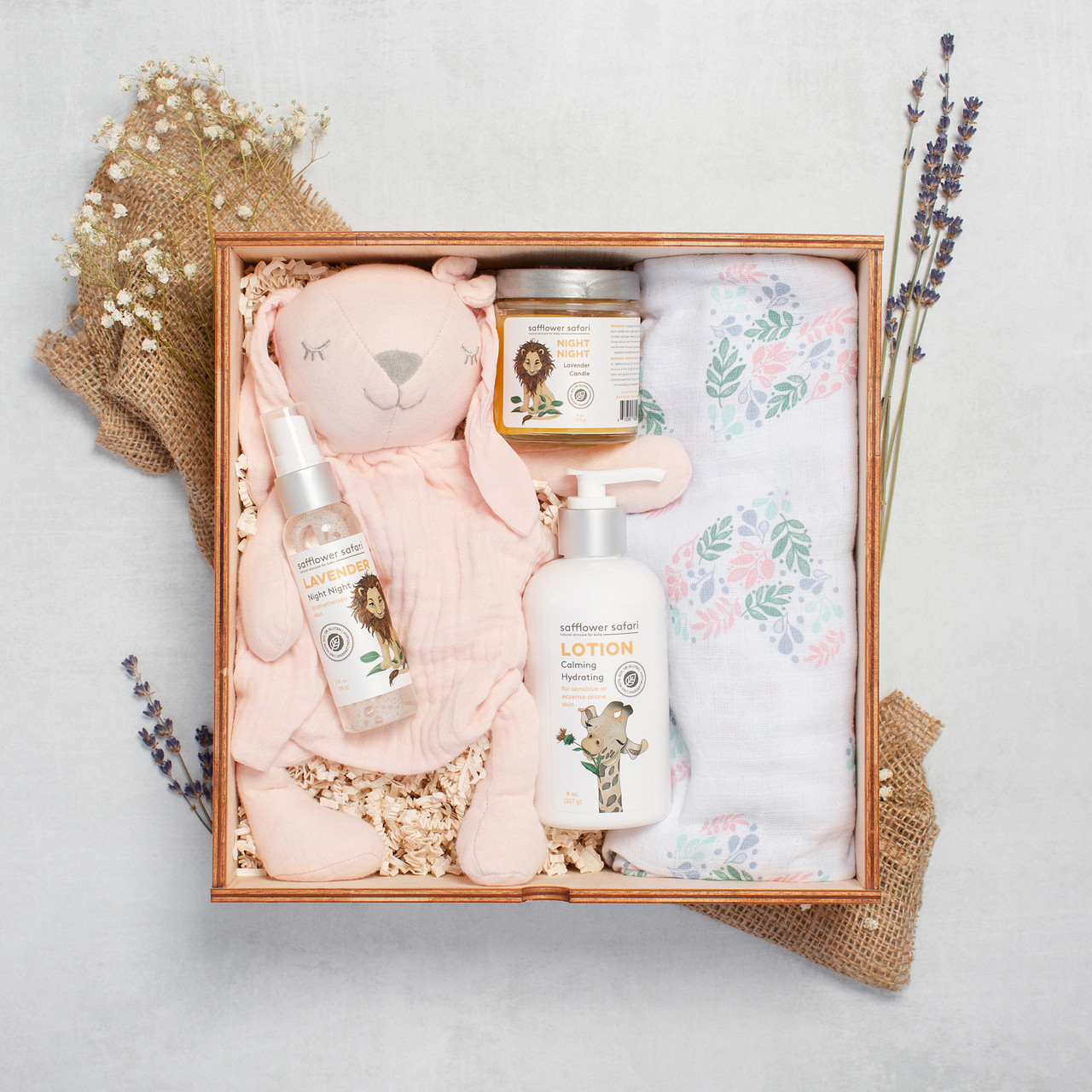 Night Night Baby Gift Box  - Pink Bunny