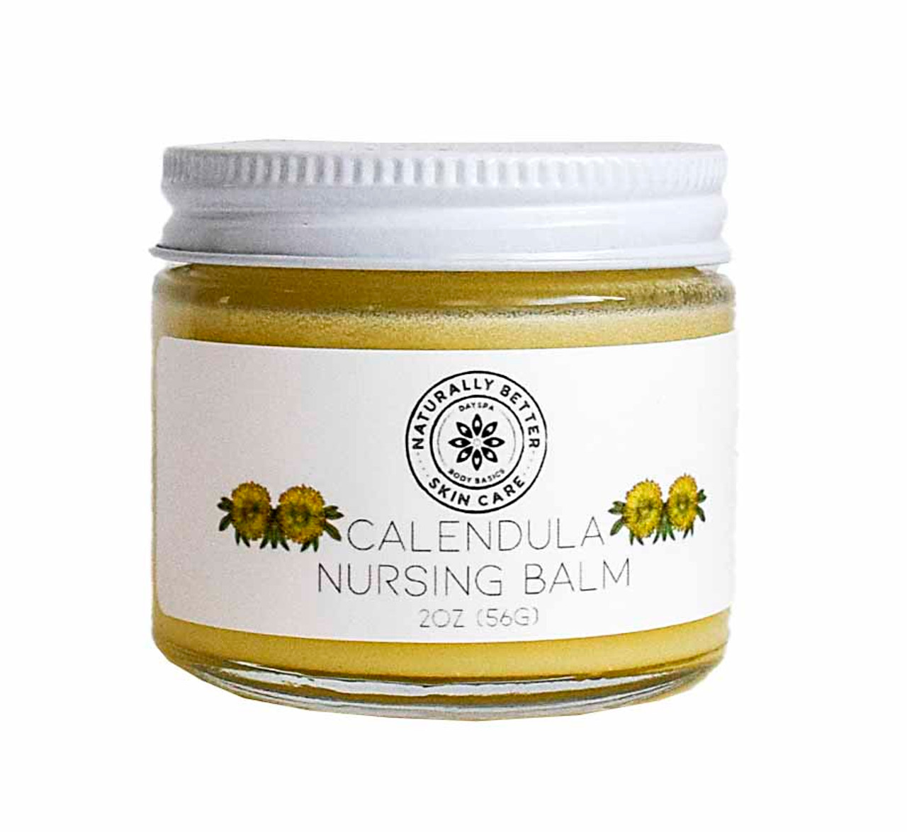 Calendula Nursing Balm - Herbal Salve for Soothing Sore, Cracked Nipples