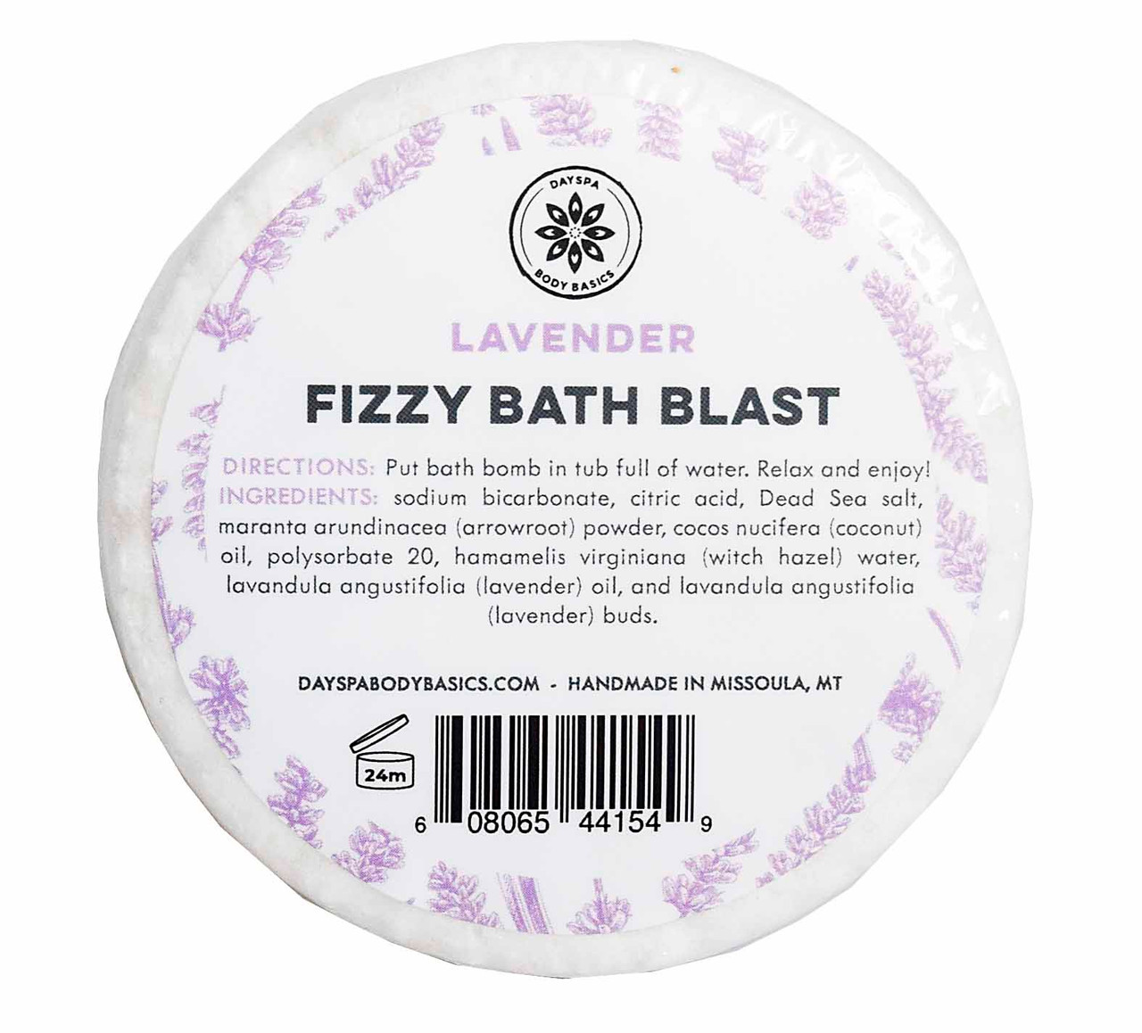 Lavender All-Natural Fizzy Bath Blast - Vegan Bath Bomb