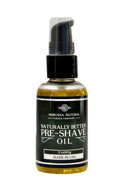 PreShave Oil is The First Step In A Naturally Better Shave Montana Natural Shave Company