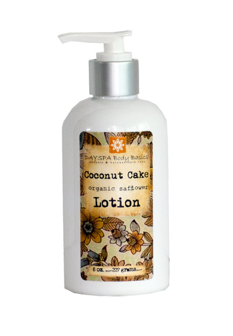 Coconut Cake Lotion For Dry Skin | Silky, Nourished, & Hydrated Skin | Organic Safflower Hand, Face & Body Lotion| Sensitive Skin Formula | Handmade in USA | Simple Ingredients, Naturally Better Results