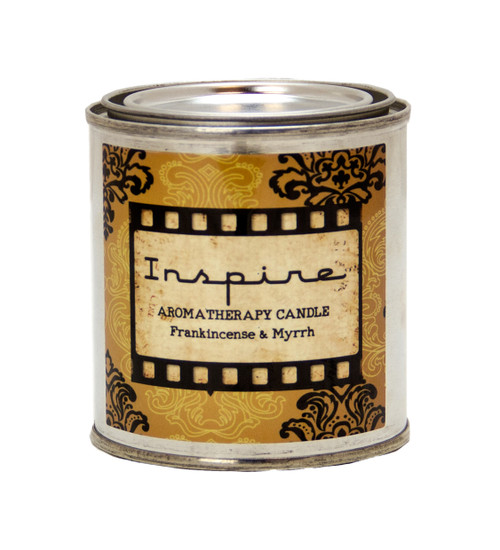 Inspire - Frankincense & Myrrh Essential Oil Hand Poured Natural Beeswax Candle | Natures Air Purifier