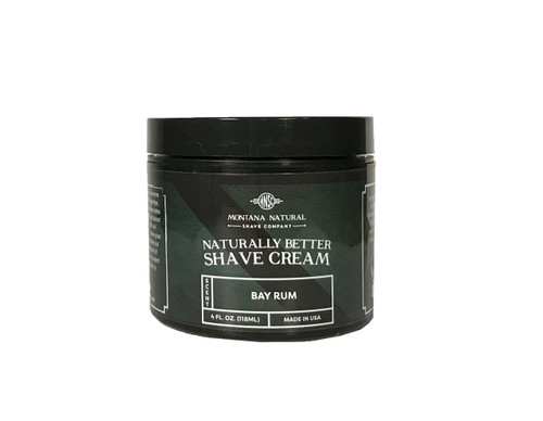 Montana Natural Shave Company | Bay Rum Shave Cream for a Naturally Better Shave Experience!