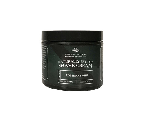 Montana Natural Shave Company   Rosemary Mint Shave Cream for a Naturally Better Shave Experience!