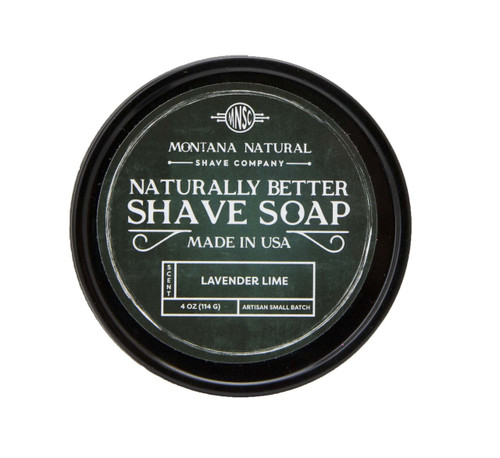 Lavender Lime Artisian Small Batch Shave Soap for a Naturally Better Shave Experience