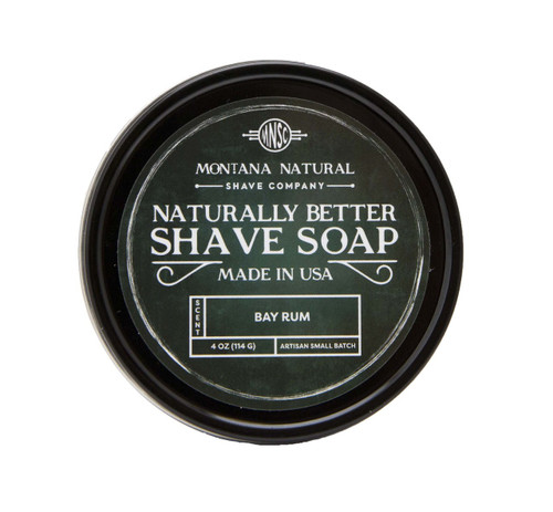 Bay Rum Artisian Small Batch Shave Soap for a Naturally Better Shave Experience