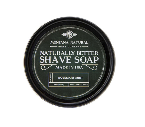 Rosemary Mint Artisan Small Batch Shave Soap for a Naturally Better Shave Experience