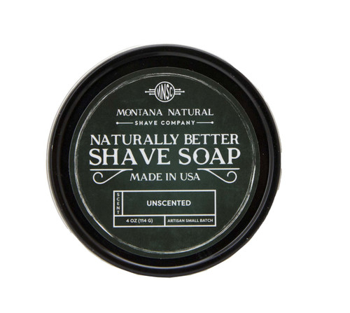 Unscented Artisan Small Batch Shave Soap for a Naturally Better Shave Experience