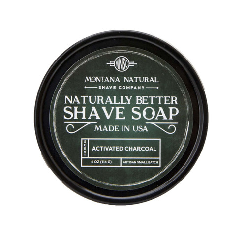 Activated Charcoal Artisan Small Batch Shave Soap for a Naturally Better Shave Experience
