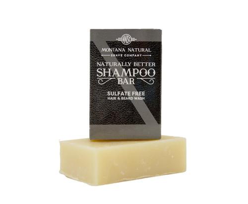 Tonka Bean & Saffron Travel Friendly Solid Shampoo and Beard Wash - Montana Natural Shave Company