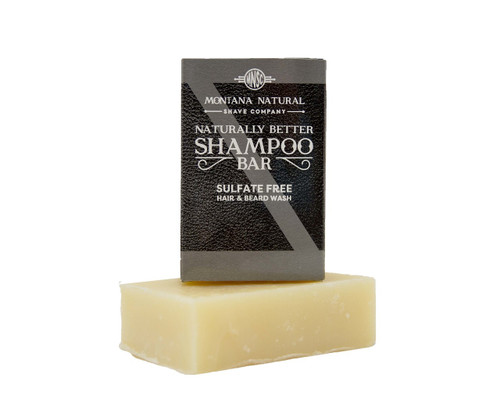 Unscented Travel Friendly Solid Shampoo and Beard Wash - Montana Natural Shave Company