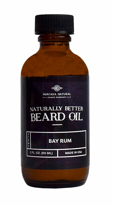 Bay Rum Beard Oil & Leave in Moisturizer - Montana Natural Shave Company