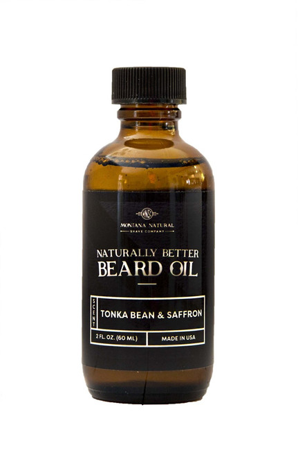 Tonka Bean & Saffron Beard Oil & Leave in Moisturizer - Montana Natural Shave Company