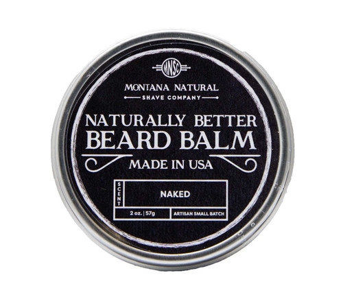Small Batch Naked (Unscented) Beard Balm Naturally Better - Montana Natural Shave Company
