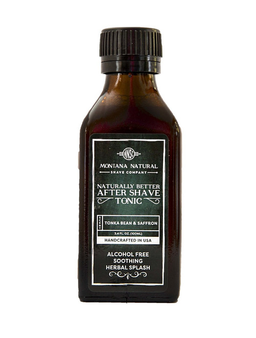 Tonka Bean & Saffron Classic Old School Aftershave Tonic. Naturally Better  Alcohol Free Botanical Splash. Montana Natural Shave Company