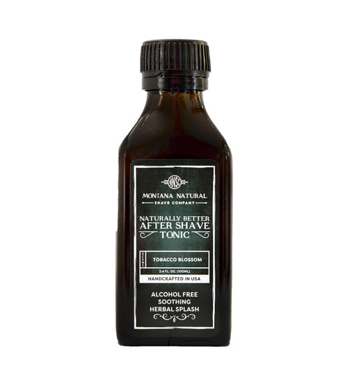 Tobacco Blossom Old School Aftershave Tonic. Naturally Better  Alcohol Free Botanical Splash. Montana Natural Shave Company