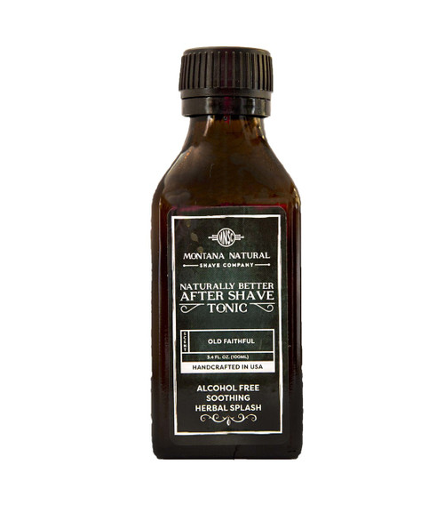 Old Faithful Old School Aftershave Tonic. Naturally Better  Alcohol Free Botanical Splash. Montana Natural Shave Company