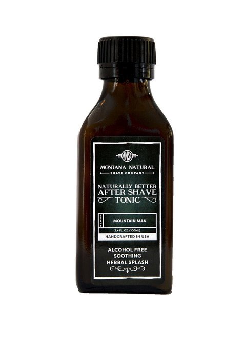 Mountain Man Old School Aftershave Tonic. Naturally Better  Alcohol Free Botanical Splash. Montana Natural Shave Company