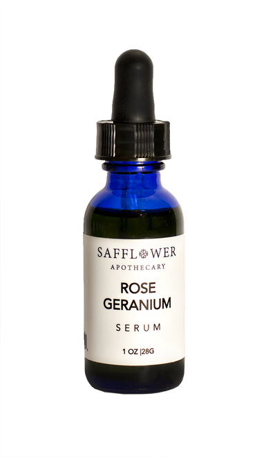 Rose Geranium Serum Safflower Apothecary