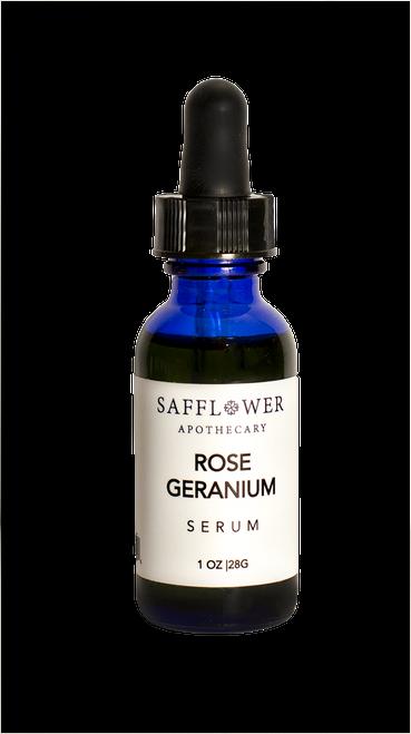 Rose Geranium Serum Safflower Apothecary