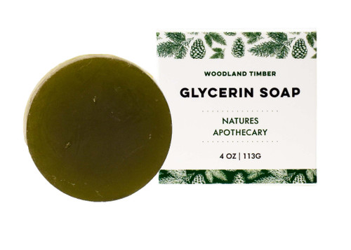 DAYSPA Body Basics Glycerin Woodland Timber, Eco Friendly, 100% Vegan, Glycerin Soap, Handmade in USA in Small Batches